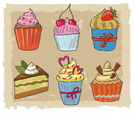 Hand drawn cupcake Royalty Free Stock Photography