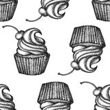 Hand drawn cupcakes Royalty Free Stock Photography