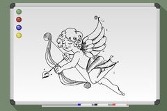 Hand drawn cupid Royalty Free Stock Images