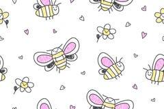 Hand drawn butterflies seamless pattern Royalty Free Stock Photos