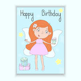 Hand Drawn cute cartoon Fairy with gifts, vector illustration Royalty Free Stock Photos