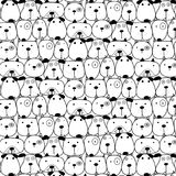 Hand Drawn Cute Dogs Pattern Background. Vector Illustration royalty free illustration