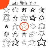 Hand drawn cute little stars Stock Photography
