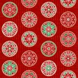 Hand-drawn de decoratieontwerpen van de Kerstmissneeuwvlok, naadloos vectorpatroon vector illustratie
