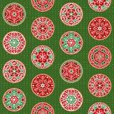 Hand-drawn de decoratieontwerpen van de Kerstmissneeuwvlok, naadloos vectorpatroon stock illustratie