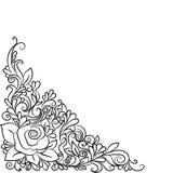 Hand-drawn decoratief bloemenelement voor ontwerp Stock Fotografie