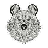 Hand drawn decorative bear Stock Image
