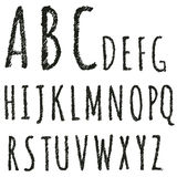 Hand drawn decorative english alphabet letters Stock Photos