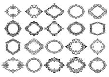 Hand drawn decorative frames set. Cartoon style. Vector. Hand drawn decorative frames set. Cartoon style. Vector Royalty Free Stock Photo