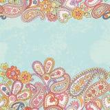 Hand drawn decorative horizontal seamless pattern  Stock Photos