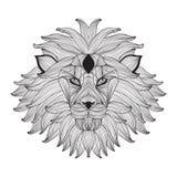 Hand drawn decorative lion Royalty Free Stock Photos