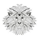 Hand drawn decorative lion Stock Photo