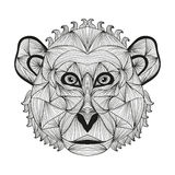 Hand drawn decorative monkey Stock Image