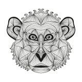 Hand drawn decorative monkey Stock Image