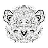 Hand drawn decorative monkey. Elegant hand drawn decorative monkey, design element. Can be used for invitations, greeting cards, scrapbooking, print, gift wrap Stock Image