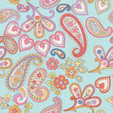 Hand drawn decorative seamless pattern with paisley Stock Photo