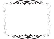 Hand drawn decorative spiral frame border Stock Images