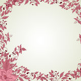Hand drawn decorative vector background with flowers Royalty Free Stock Photo