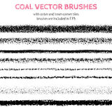 Hand drawn decorative vector brushes. Stock Photography