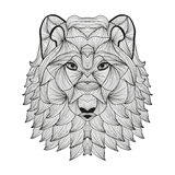 Hand drawn decorative wolf Stock Photo