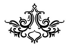 Hand drawn  design element in damask art style decoration Royalty Free Stock Image
