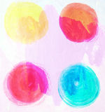Hand drawn design elements. Abstract ink shapes Stock Photography