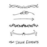 Hand drawn  design elements Royalty Free Stock Photos