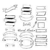 Hand Drawn Design Elements Blanc Royalty Free Stock Photography