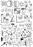 Hand drawn design elements business Royalty Free Stock Image