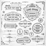 Hand Drawn Design Elements Royalty Free Stock Images