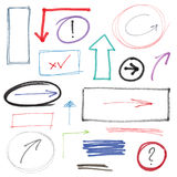 Hand drawn design elements Royalty Free Stock Image
