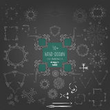 Hand drawn design elements stock illustration