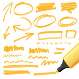 Hand drawn design elements. Vector design elements, color can be changed by one click Stock Photos