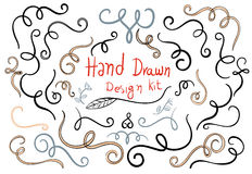 Hand drawn design kit. Vector Royalty Free Stock Photo