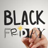 Hand drawn design words BLACK FRIDAY Royalty Free Stock Images