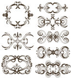 Hand drawn detailed ornament collection Royalty Free Stock Photo
