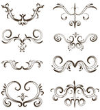 Hand drawn detailed ornament collection Royalty Free Stock Photography