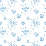 Hand drawn diamond pattern Royalty Free Stock Image