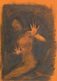 Hand drawn diffuse woman sketch Stock Photos
