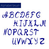Hand drawn digital  alphabet. For DIY projects and design. Brush script. Ink alphabet Royalty Free Stock Image