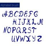Hand drawn digital alphabet. For DIY projects and design. Brush script. Ink alphabet vector illustration