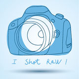 Hand drawn digital camera Stock Photos