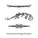Hand drawn divider design elements for separating paragraphs or other designs royalty free stock photo