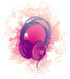 Hand drawn dj's headphones Stock Photos