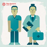 Hand drawn doctors Stock Photography