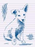 Hand drawn dog Stock Photo