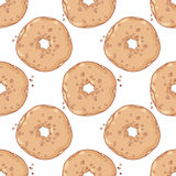 Hand drawn donuts seamless pattern. Sweet Stock Photos