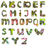 Hand drawn doodle abc font. Vector illustration Royalty Free Stock Image