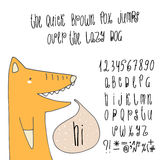 Hand drawn doodle alphabet. Stock Image