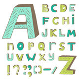 Hand drawn doodle alphabet Royalty Free Stock Photography